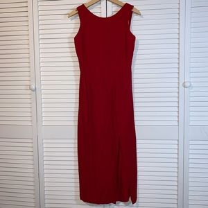 Vintage Maxi open back Dawn Joy Fashions dress RED